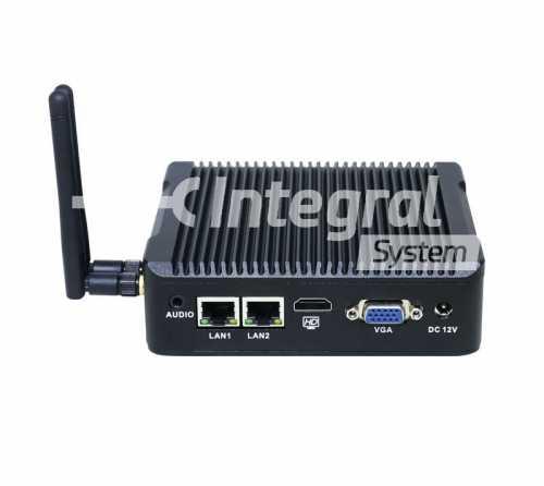 PC Box sans ventilation à processeur QuadCore J1900, 4G RAm et SSD 32Go