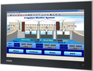 "18.5"" Industrial Monitor with Projected Capacitive Touchscreen, Direct-VGA and DVI Ports"